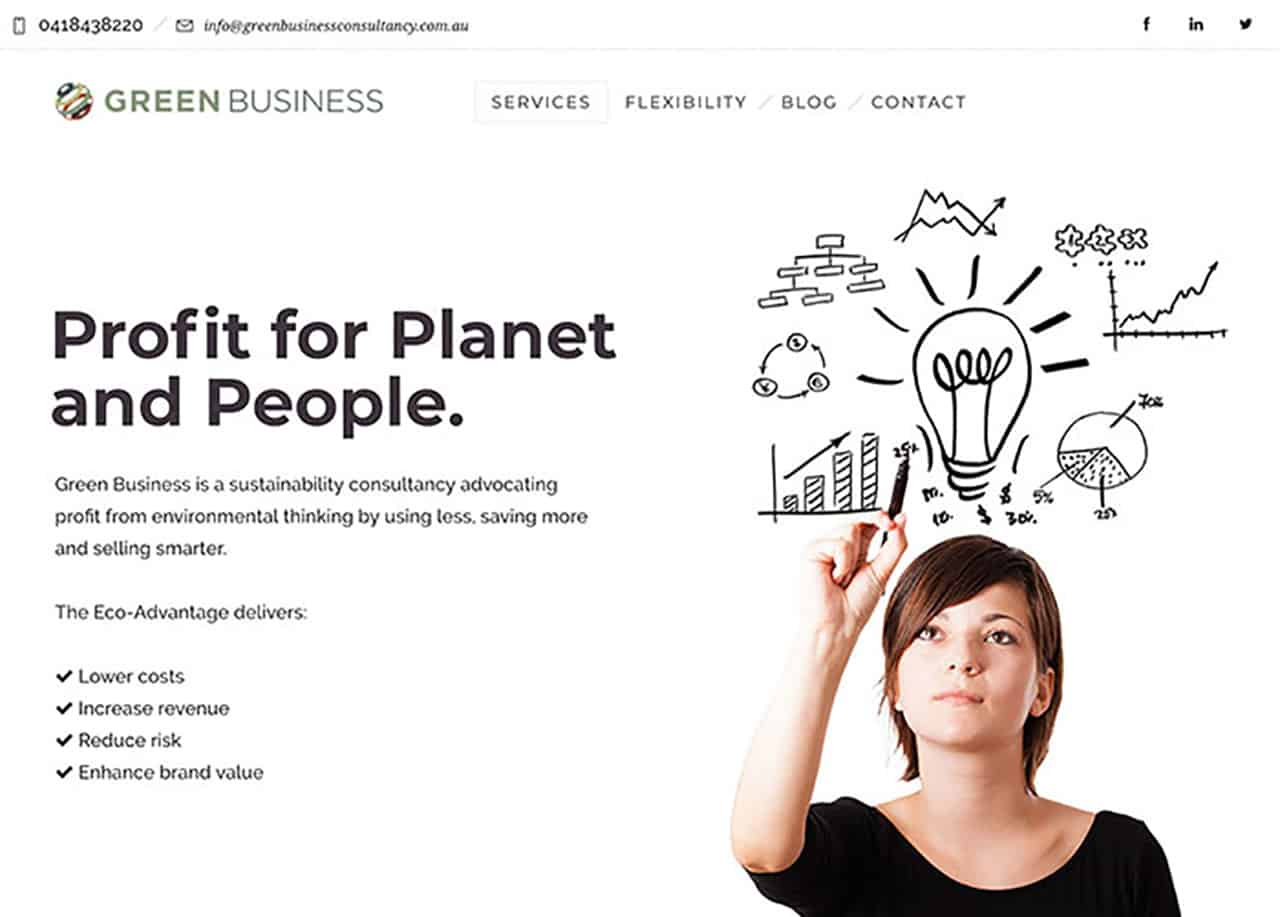 Green Business Website Case Study