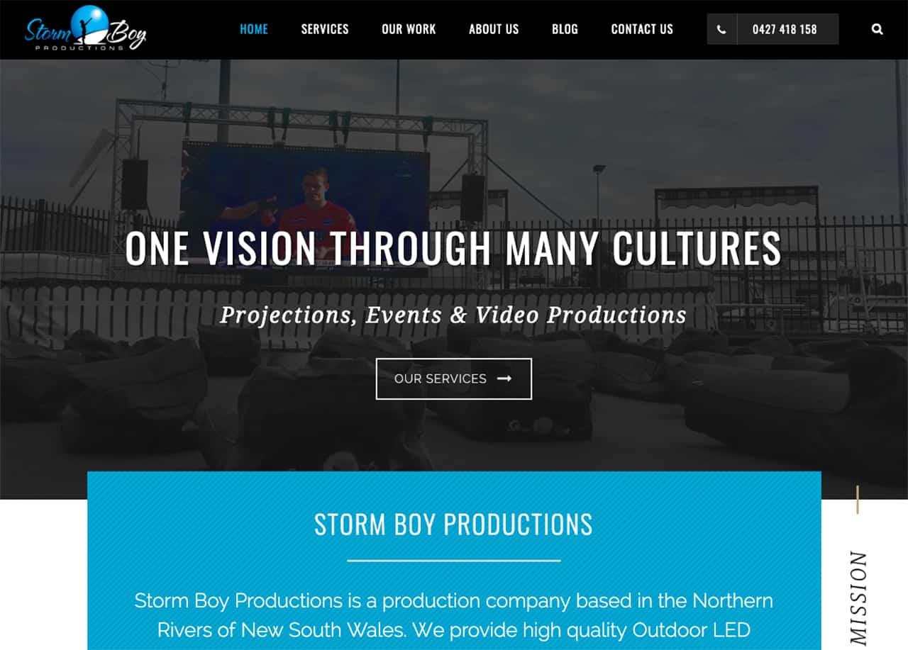 Storm Boy Productions Website Case Study