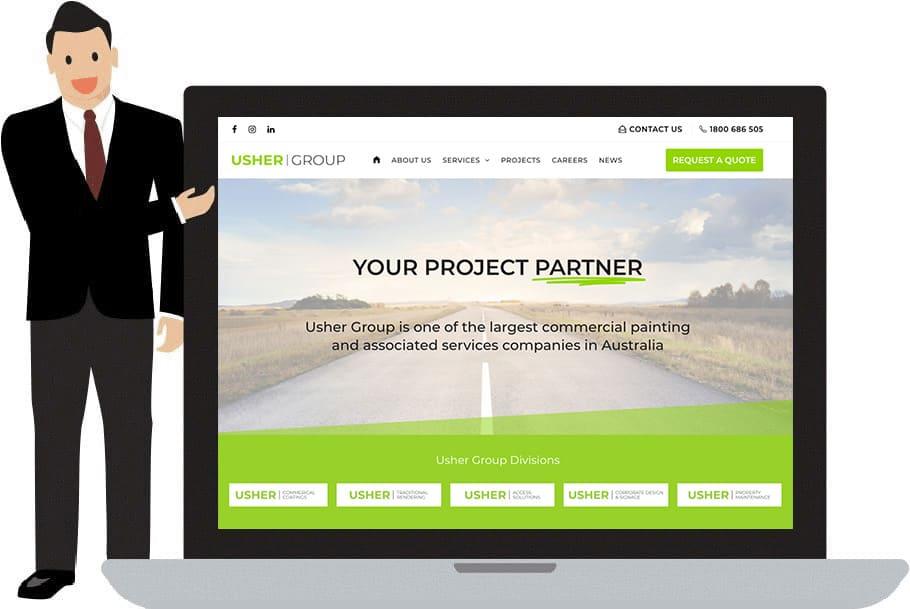 Usher Group Business Website