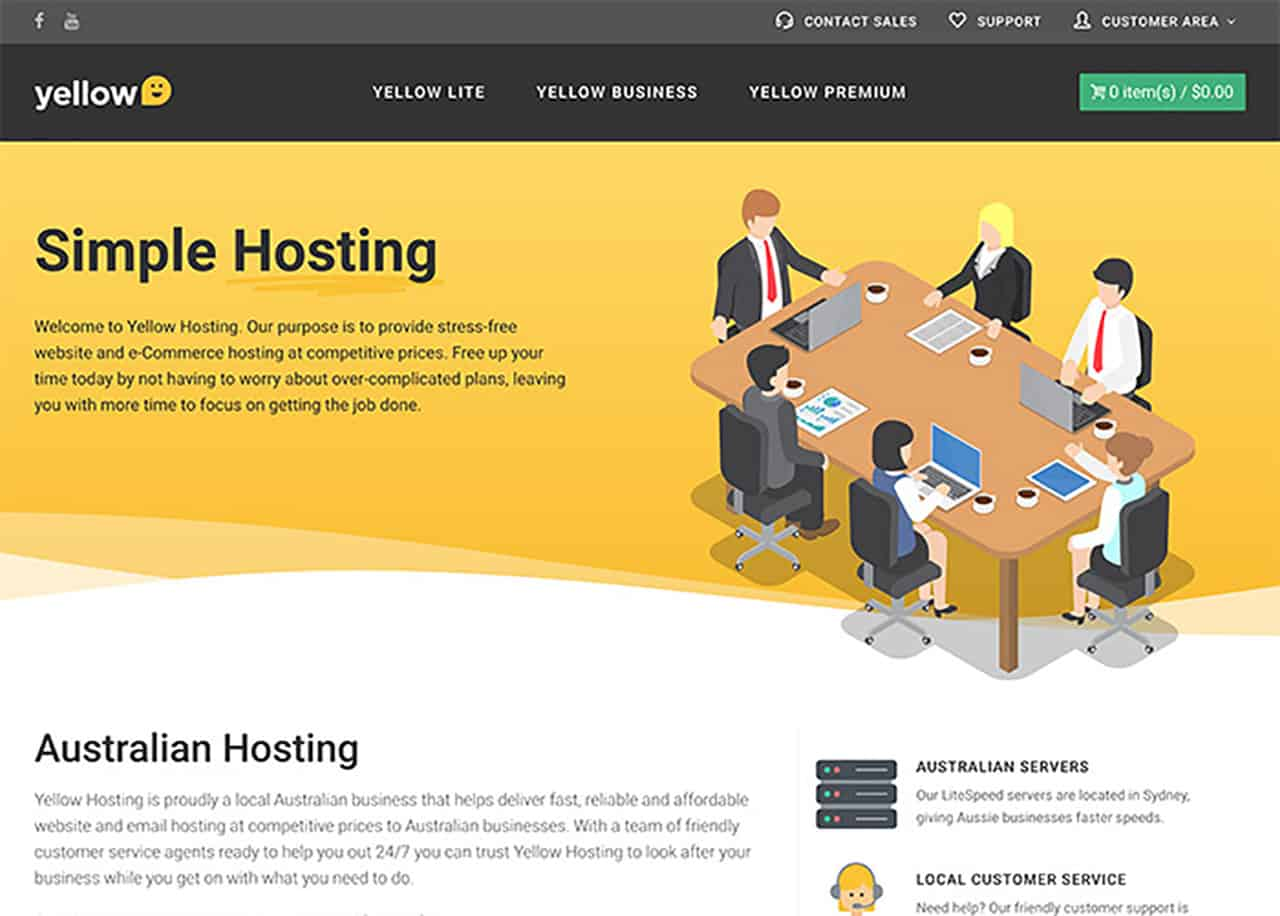 yellow hosting