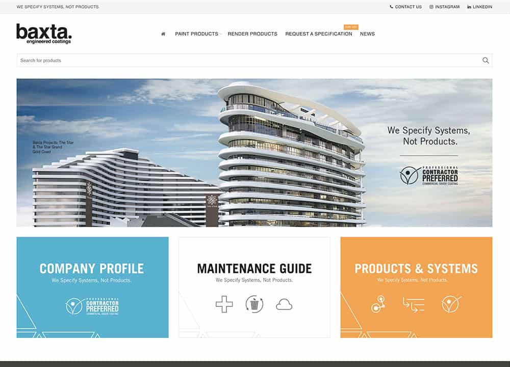 Baxta Gold Coast Website Design