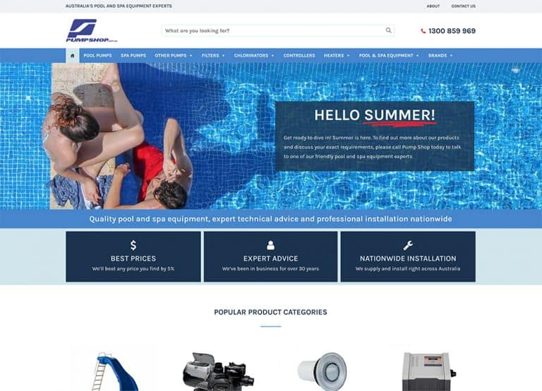 Pump-Shop-Website