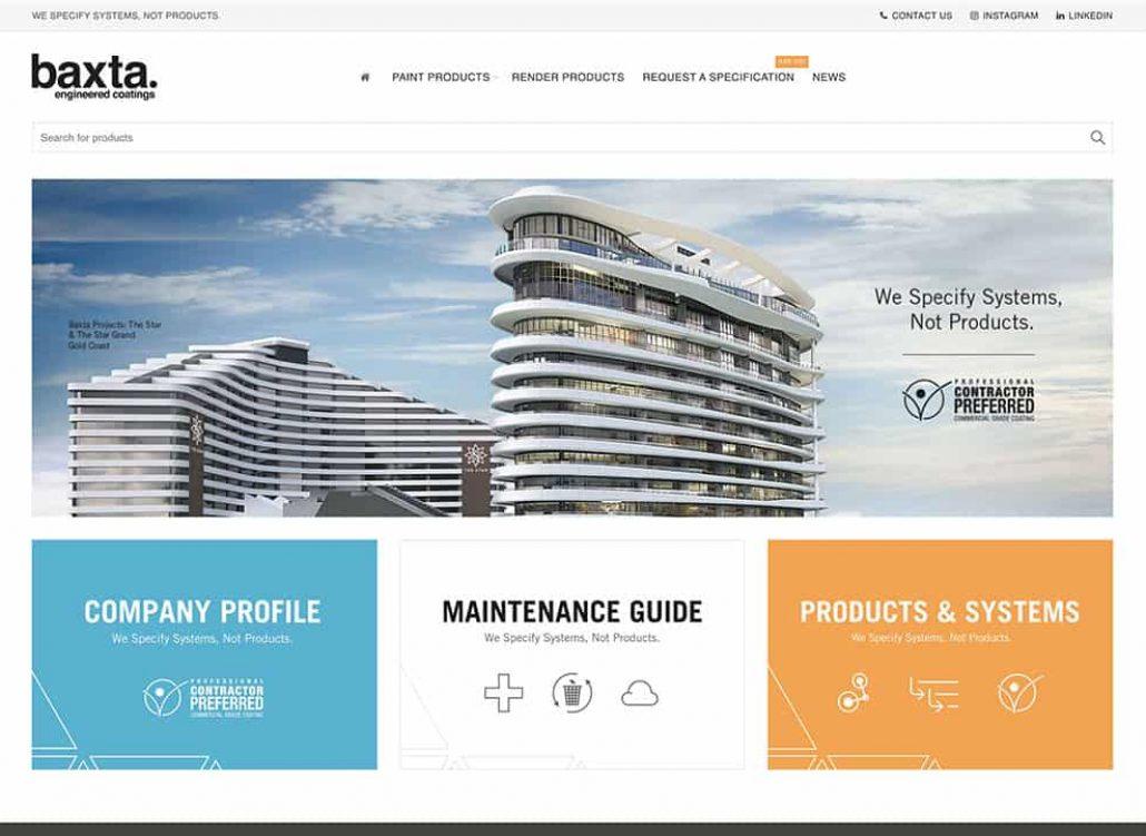 Baxta Gold Coast Website Design